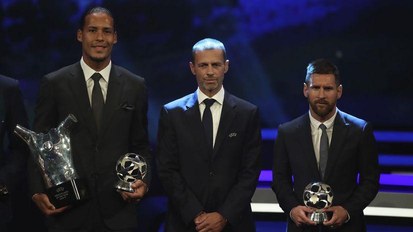 Van Dijk, Čeferin, Messi