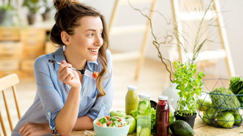 zdravá strava, obed, šalát,