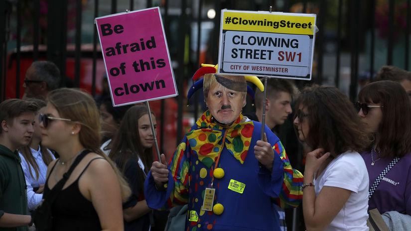 británia Brexit boris johnson protest