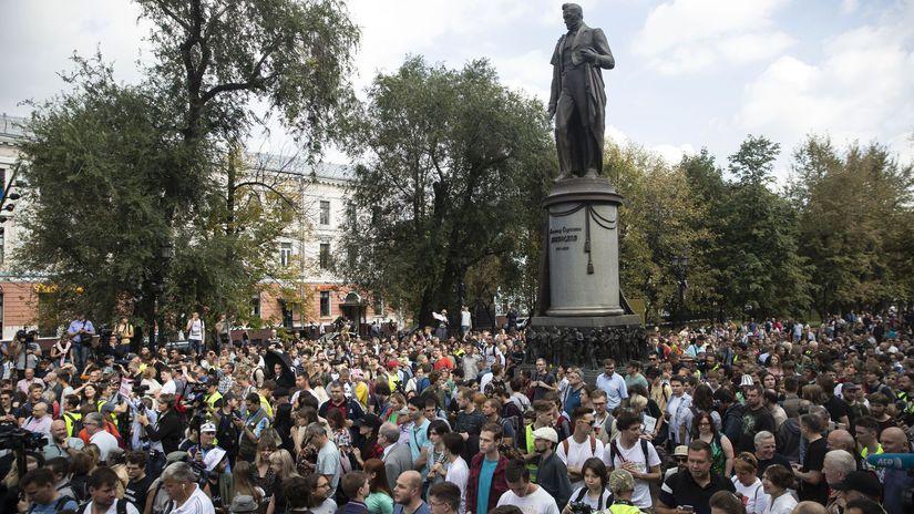 Rusko Moskva voľby protesty