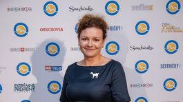 Herečka Anikó Vargová na párty televízie Markíza.