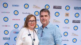 Hereckí kolegovia Marta Sládečková a Peter Marcin.