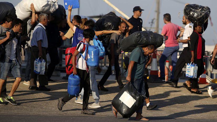 Grécko / migranti /