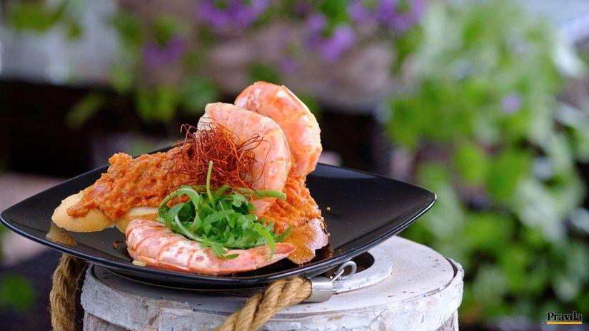 Paradajkový tataráčik s krevetou