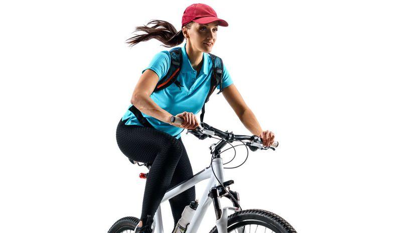 cyklistka, bicykel, jazda na bicykli,