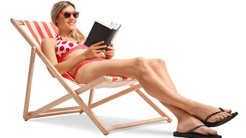 dovolenka, oddych, voľno, relax, čítanie kníh,
