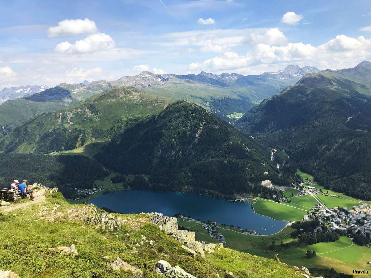 Švajčiarsko, Davos, jazero