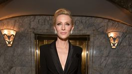 Herečka Cate Blanchett dorazila na prehliadku Ralph Lauren  Jar/Leto 2020, ktorá sa konala v New Yorku.