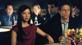 Herečka Lucy Liu na zábere zo seriálu Ally McBeal, ktorý začal vznikať v roku 1997.