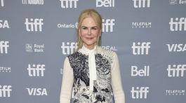 Herečka Nicole Kidman na tlačovej konferencii k filmu Stehlík.