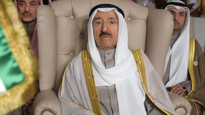 Kuvajt emir problémy zdravotné USA návšteva...