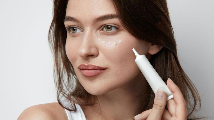 Očný krém, žena, kozmetika, pleť