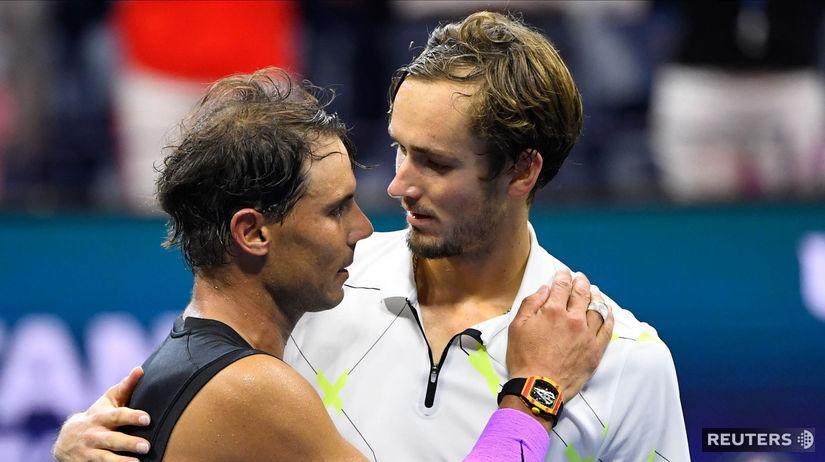 Rafael Nadal a Daniil Medvedev