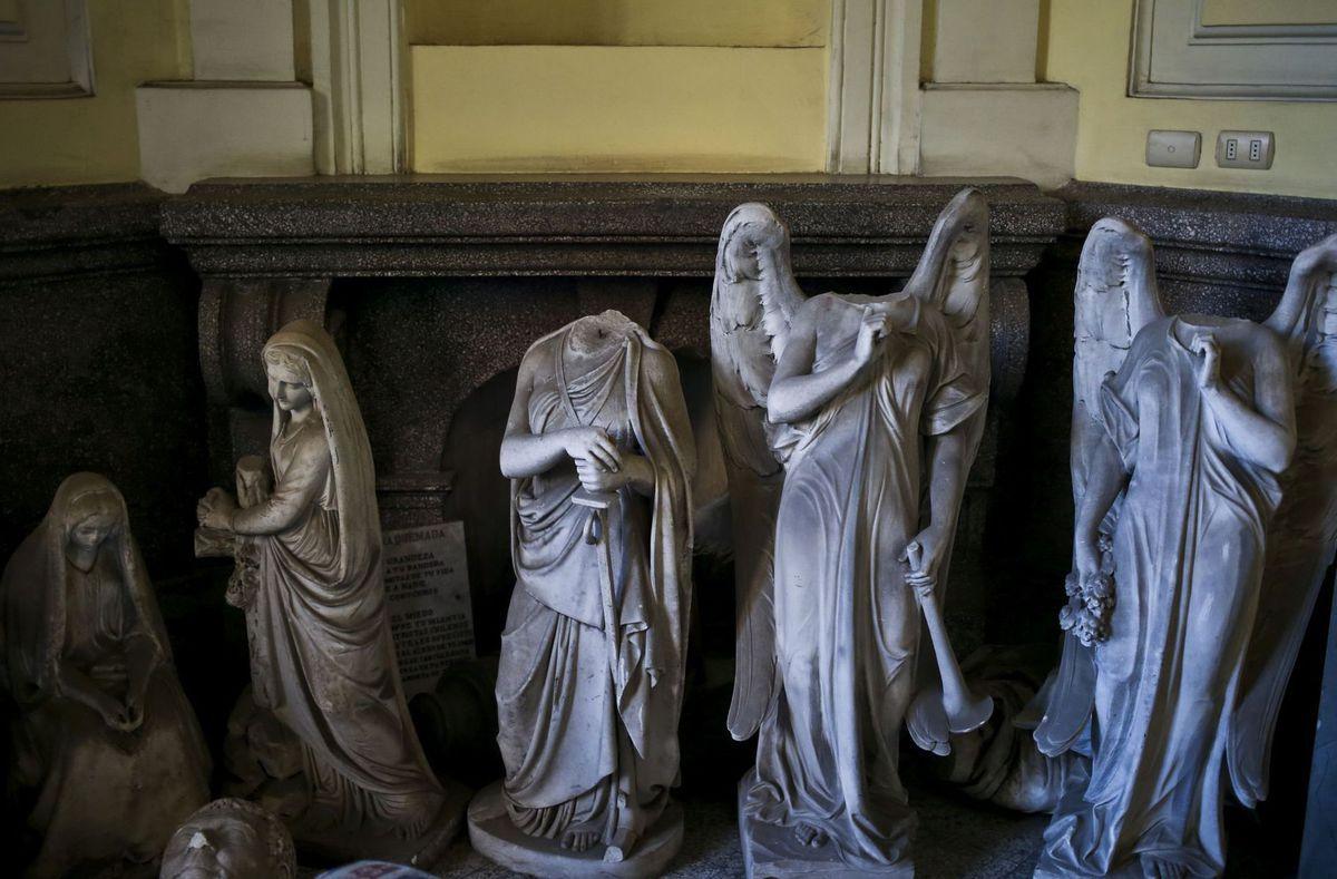 Čile, sochy, cintorín, Santiago, anjeli
