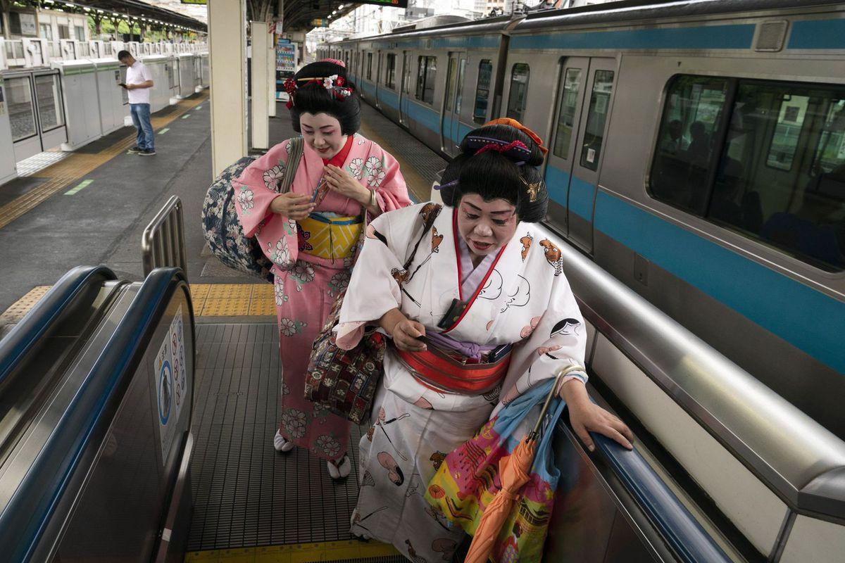 Japonsko, gejše, vlak, metro, doprava, Tokio