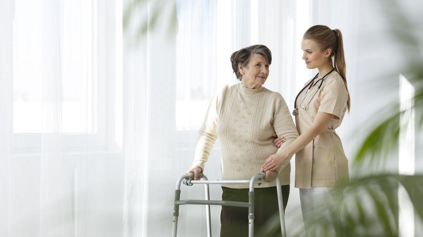 opatrovateľka, domov dôchodcov, seniori,...