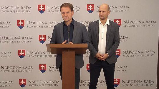 Igor Matovič a Gábor Grendel z hnutia OĽaNO