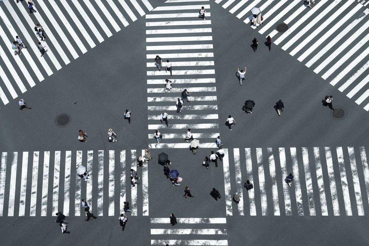 Japonsko, priechod pre chodcov, ulica, mesto, Tokio
