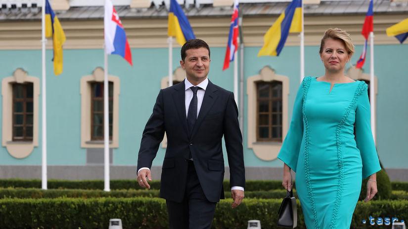 Ukrajina SR Kyjev prezidentka Čaputová návšteva...