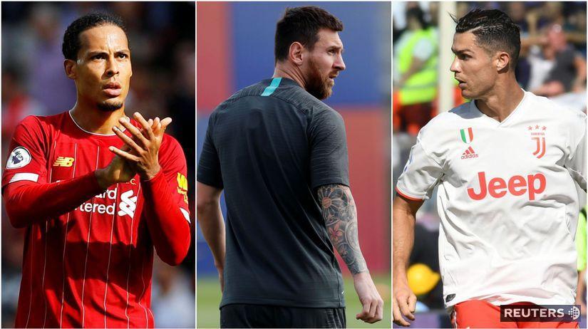 Virgil van Dijk, Lionel Messi, Cristiano Ronaldo