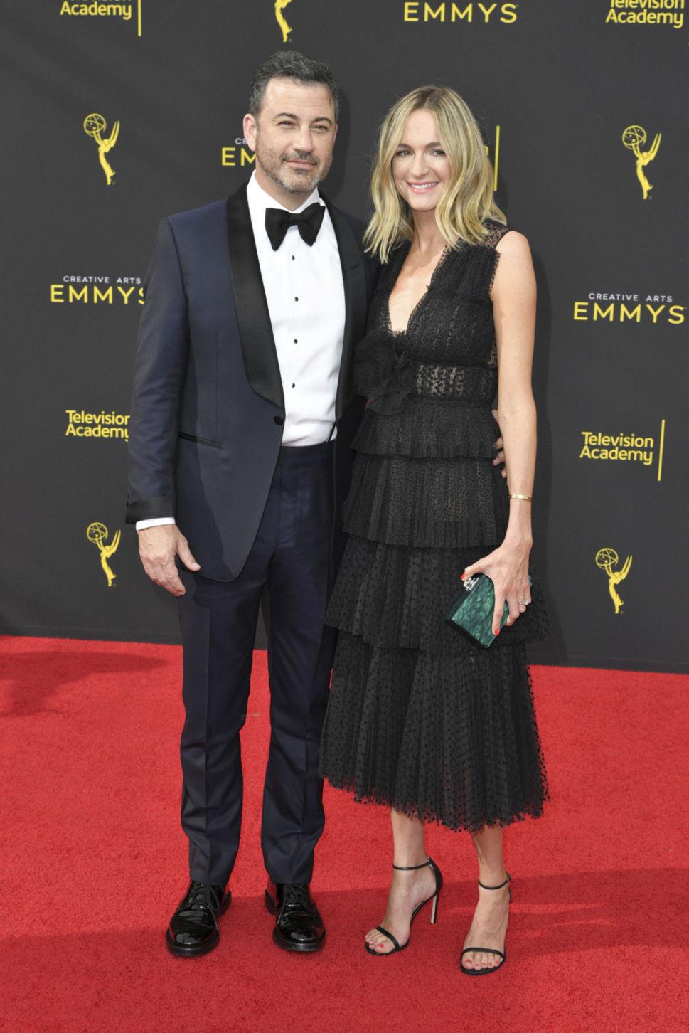 Moderátor Jimmy Kimmel a jeho manželka Molly...