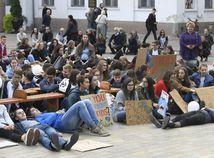 Košice klimatický štrajk študenti