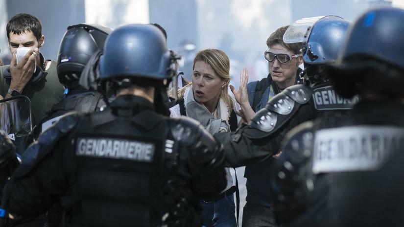 protest, žlté vesty, francúzsko