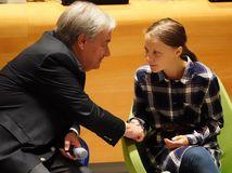 Greta Thunbergová, António Guterres