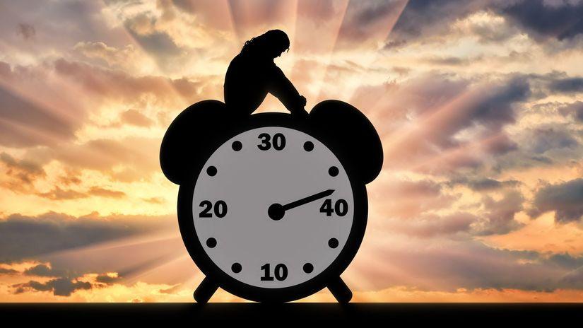 myšlienka, hodiny, čas, zamyslenie,