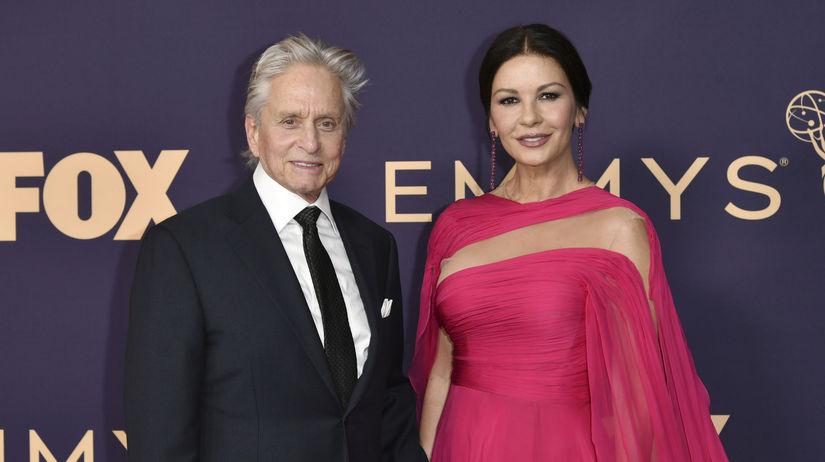 Herec Michael Douglas a jeho manželka Catherine...