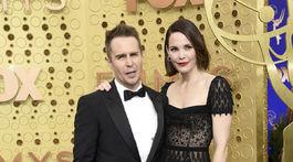 Sam Rockwell a jeho manželka Leslie Bibb.