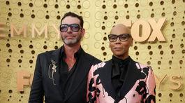 Zabávač RuPaul a jeho manžel Georges LeBar.