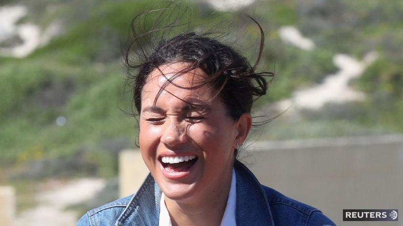 Vojvodkyňa Meghan so spontánnym smiechom na...