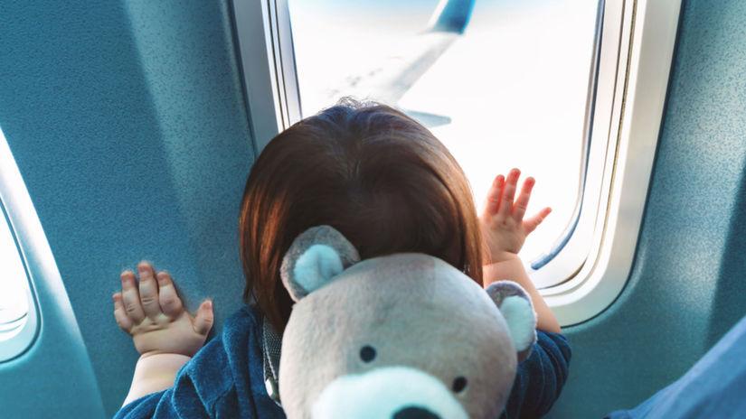 batoľa, dieťa, cestovanie, lietadlo, plač