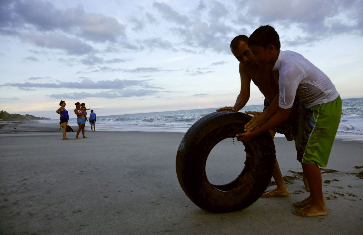 Panama, pláž, koleso, Santa Clara