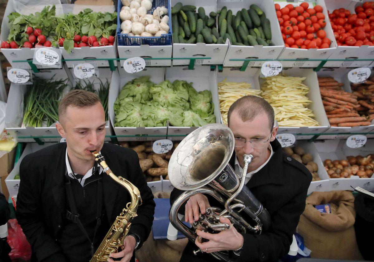Rumunsko, zelenina, hudba, obchod, obchod, kapela, trúba, Transylvánia