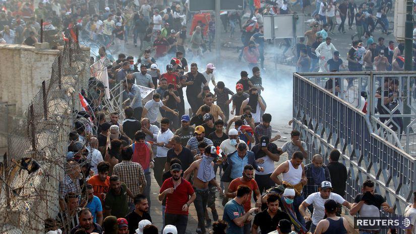 Irak / demonštrácia / protest /