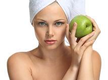 jablko, pokožka, žena, starostlivosť