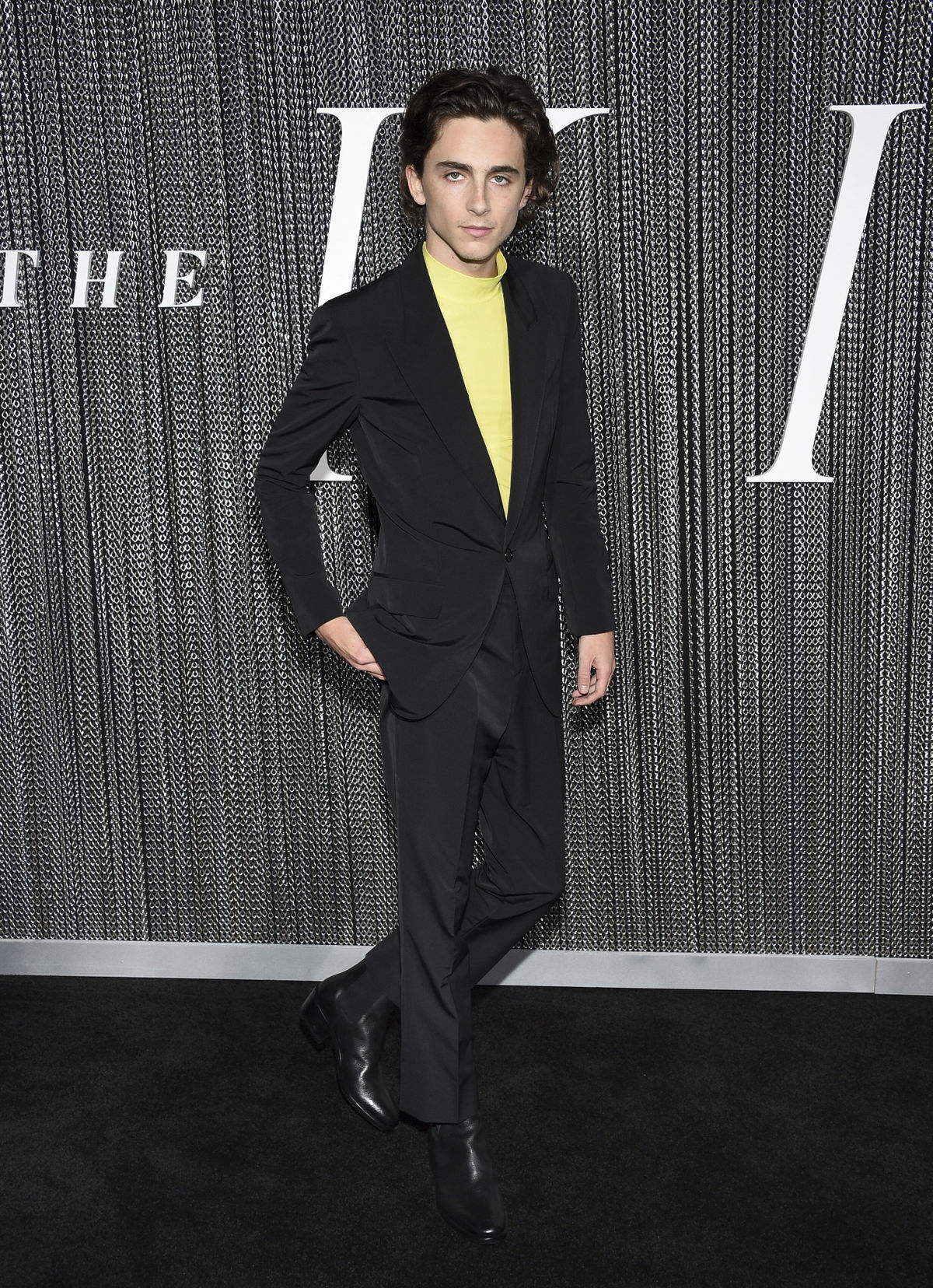 Herec Timothee Chalamet na premiére filmu The...