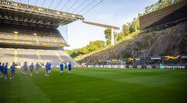 Slovan, Braga, tréning