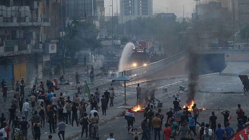 irak, bagdad, protest, násilie