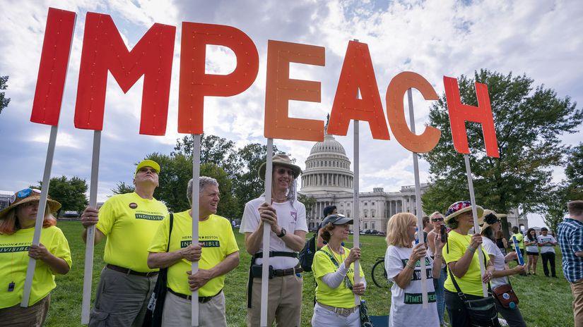 Trump Impeachment Whistleblower USA washington...