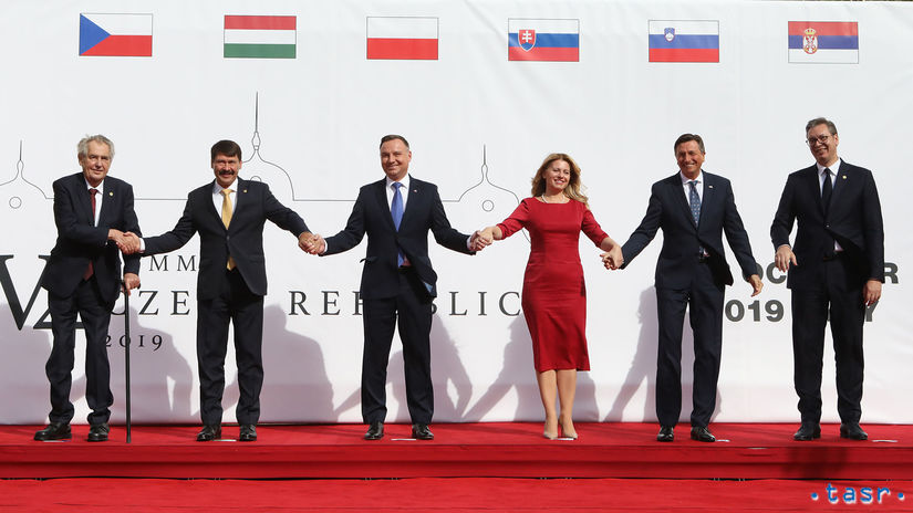 V4 stretnutie Aleksandar Vučič Borut Pahor...