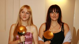 Záber z roku 2007. Na snímke Iveta Kolářová (vpravo) s dcérou Luciou Kolářovou, ktorá bola druhým potomkom Karla Gotta.