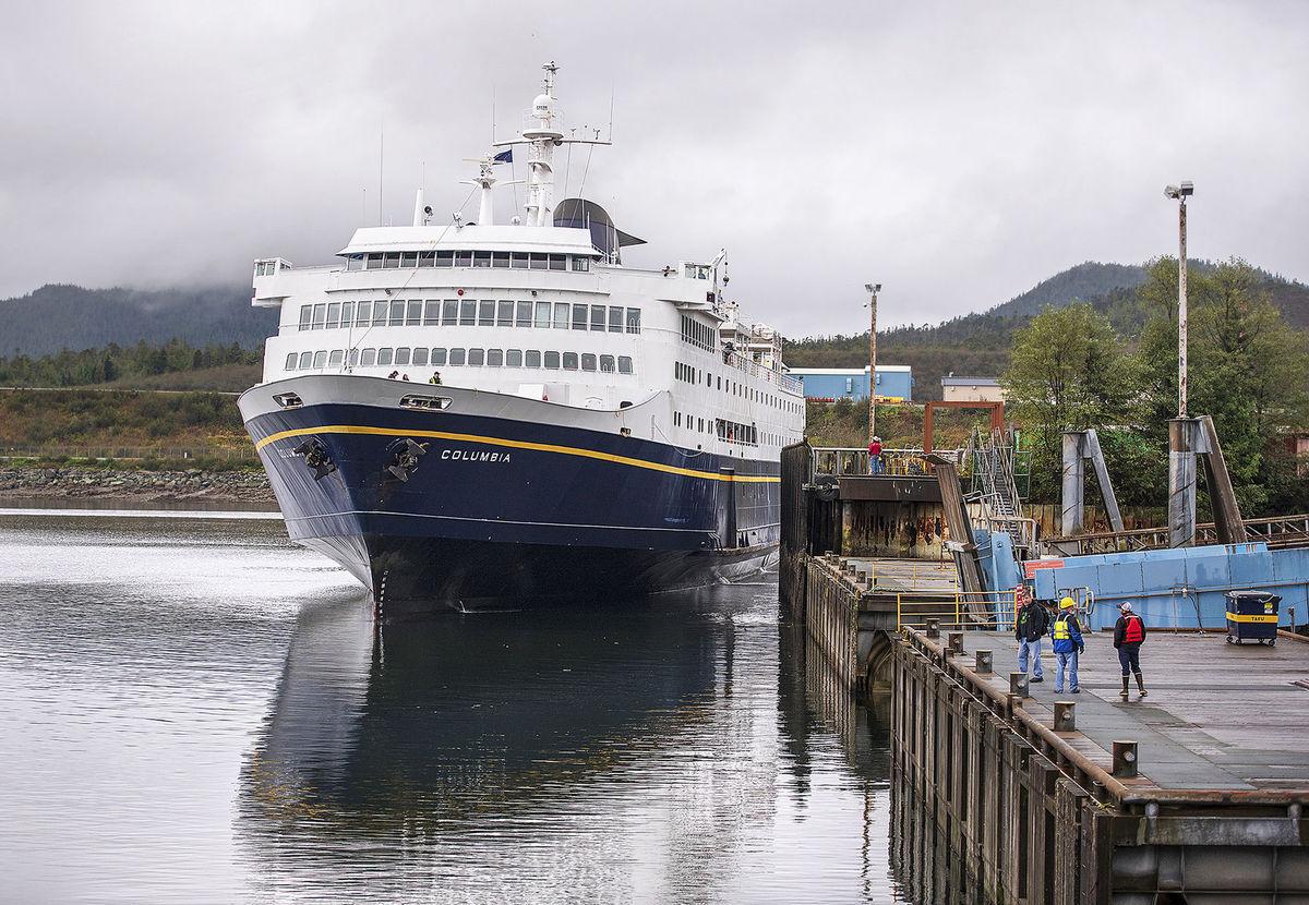 Aljaška, loď, trajekt, prístav