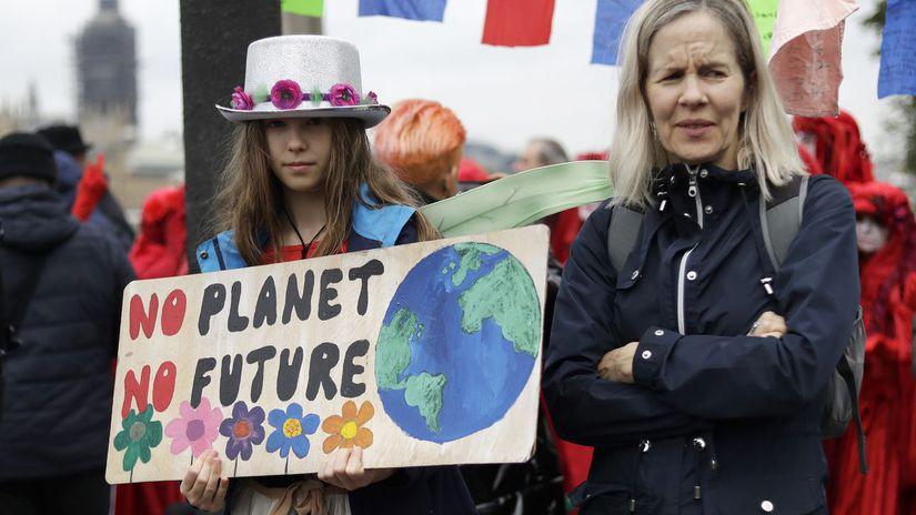 Británia / protest / klíma /