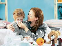 choroba, dieťa, prechladnutie, nádcha, chrípka