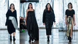 Modelky v kolekcii dizajnérky Silvie Zrebnej na podujatí Fashion LIVE! 2019.