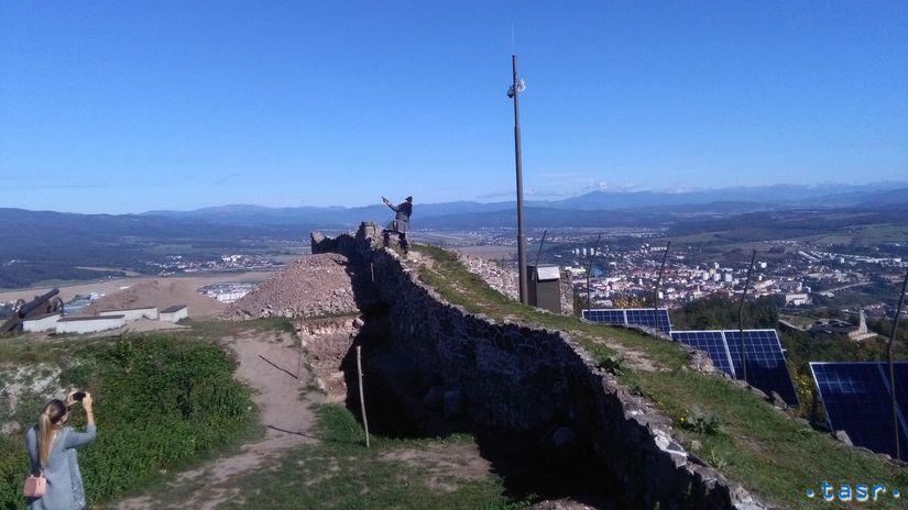 SR Zvolen hrad Pustý kamera živá panoráma