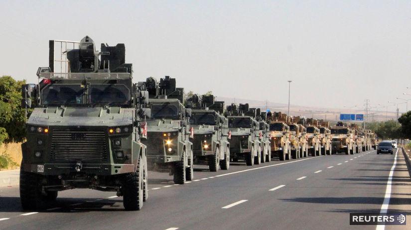 syria, turecko, armáda, konvoj, kolóna, cesta,...